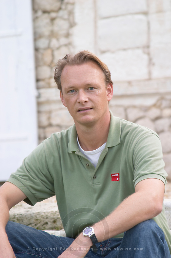 Arjen Pen, manager and winemaker. Chateau Richelieu, Fronsac, Bordeaux, France