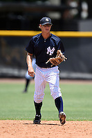 GCL Yankees 2 shortstop Tyler Palmer (31) during a game against the GCL Braves on June 23, 2014 at the Yankees Minor League Complex in Tampa, Florida.  GCL Yankees 2 defeated the GCL Braves 12-4.  (Mike Janes/Four Seam Images)