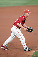 Garrett Buechele #38 of the Oklahoma Sooners plays against the Arizona State Sun Devils in the first of a two-game series on March 15, 2011 at Packard Stadium, Arizona State University, in Tempe, Arizona. .Photo by:  Bill Mitchell/Four Seam Images.