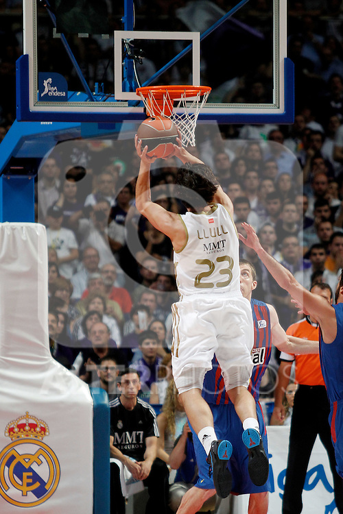 Real Madrid's Sergio LLull  during Liga Endesa ACB Play-Off Final matchs.4th Game. June 13,2012. (ALTERPHOTOS/Acero)