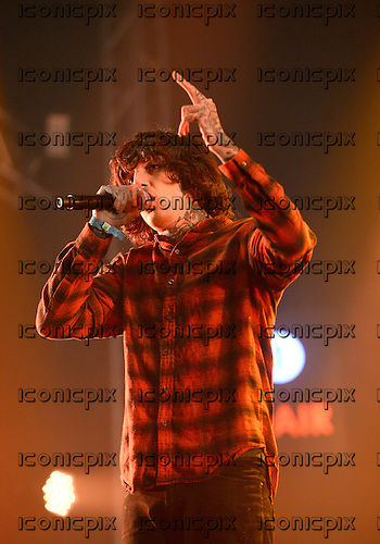 BRING ME THE HORIZON - Oli Sykes - performing live at the Radio 1 Big Weekend at Powderham Castle Exeter Devon UK - 28 May 2016.  Photo credit: George Chin/IconicPix