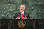 LOS general debate &ndash; 27 September<br /> <br /> AM<br /> <br /> His Excellency Sebasti&aacute;n Pi&ntilde;era Eche&ntilde;ique, President, Republic of Chilei