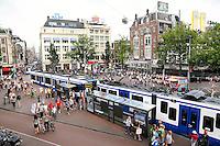 Nederland Amsterdam 2015 08 14. Trams op het Leidseplein