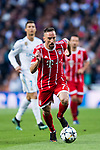 Franck Ribery of FC Bayern Munich in action during the UEFA Champions League Semi-final 2nd leg match between Real Madrid and Bayern Munich at the Estadio Santiago Bernabeu on May 01 2018 in Madrid, Spain. Photo by Diego Souto / Power Sport Images