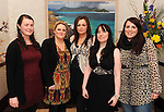 Marian O'Sullivan, Michelle O'Doherty, Mary O'Grady, Sarah Seery and Orla McCarthy,  Killarney at The Cloisters Spa in The Muckross Park Hotel, Killarney first open evening of 2012 . Picture: Don MacMonagle.