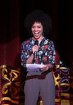 Sasha Hutchings on stage during The Fourth Annual High School Theatre Festival at The Shubert Theatre on March 19, 2018 in New York City.
