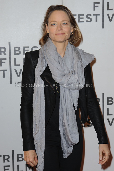 WWW.ACEPIXS.COM . . . . . .April 20, 2013...New York City....Jodie Foster attends the World Premiere of Sunlight Jr. at the Tribeca Film Festival  on April 20, 2013 in New York City.....Please byline: KRISTIN CALLAHAN - WWW.ACEPIXS.COM.. . . . . . ..Ace Pictures, Inc: ..tel: (212) 243 8787 or (646) 769 0430..e-mail: info@acepixs.com..web: http://www.acepixs.com .