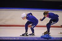 SCHAATSEN: HEERENVEEN: 18-09-2014, IJsstadion Thialf, Topsporttraining, Thijsje Oenema, Margot Boer, ©foto Martin de Jong