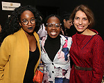 Whitney White, Ngozi Anyanwu and Sarah Stern attends the Vineyard Theatre Paula Vogel Playwriting Award honoring Jeremy O. Harris on October 12, 2018 at the National Arts Club in New York City.