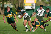 T. Ropotini leaves J. Jones sprawling as he makes a break upfield. Counties Manukau Premier Club Rugby, Pukekohe v Manurewa  played at the Colin Lawrie field, on the 17th of April 2006. Manurewa won 20 - 18.