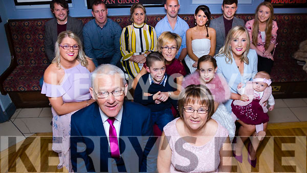 The Leahy family celebrating Maurice Leahy&rsquo;s retirement as a GDA with the Kerry County Committee for the past 37 years at the Stretford End in Causeway on Saturday last. <br /> Seated front, Maurice and Carmel Leahy with their children and grandchildren. <br /> Middle row, left to right, Tracy Dooley, Jamie Leahy Brick, Carol Leahy, Siobhan Leahy and baby Daisy Mai. <br /> Back row l to r: David Leahy, John Mike &amp; Sharon Dooley, Mike and Avril Maloney, Gavin Dooley and Erin Stack.