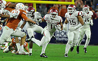 NWA Media/Michael Woods --12/29/2014-- w @NWAMICHAELW...University of Arkansas receiver Jared Cornelius returns a punt for a big gain in the 3rd quarter of the Razorbacks 31-7 win over the University of Texas at the Texas Bowl Monday night at  NRG Stadium in Houston.