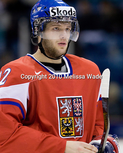 Tomas Vincour (Czech Republic - 22) - Team Czech Republic defeated Team Latvia 10-2 on Sunday, January 3, 2010 in relegation play at Credit Union Centre in Saskatoon, Saskatchewan during the 2010 World Juniors tournament.