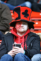 Woking fan during Woking vs Watford, Emirates FA Cup Football at The Laithwaite Community Stadium on 6th January 2019