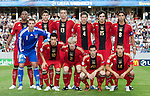 Germany. Back row from left: Jerome Boateng, Sebastian Boenisch, Sandro Wagner, Benedikt Höwedes, Mats Hummels, Sami Kherida. Front row from left: Manuel Neuer, Mesut Özil, Andreas Beck, Gonzalez Castro, Fabian Johnson. The Final Germany-England, 06292009, U21 EURO 2009 in Sweden