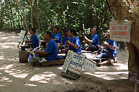 Angkor, Cambodia - 2007 File Photo -<br /> <br /> landmine victims playing music to support family at Angkor Wat<br /> <br /> Angkor Vat is a temple at Angkor, Cambodia, built for King Suryavarman II in the early 12th century as his state temple and capital city. The largest and best-preserved temple at the site, it is the only one to have remained a significant religious centre since its foundation&mdash;first Hindu, dedicated to Vishnu, then Buddhist. The temple is the epitome of the high classical style of Khmer architecture. It has become a symbol of Cambodia, appearing on its national flag, and it is the country's prime attraction for visitors.<br /> <br /> photo : James Wong-  Images Distribution