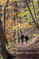 Hikers on the Blue Blazed Trail, Delaware Water Gap, New Jersey