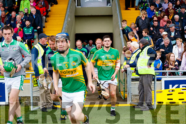 Ballyduff in action against Ricky Heffernan Lixnaw in the Senior County Hurling Final in Austin Stack Park on Sunday