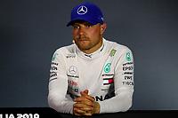 #77 Valteri Bottas; Mercedes AMG Team F1<br /> Press conference <br /> Italian GP, Monza 5-8 September 2019<br /> Monza 07/09/2019 GP Italia <br /> Formula 1 Championship 2019 <br /> Photo Federico Basile / Insidefoto