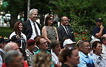 A large crowd gathered for a USS Nevada Centennial of Launch ceremony at the Capitol, in Carson City, Nev., on Friday, July 11, 2014.<br /> Photo by Cathleen Allison