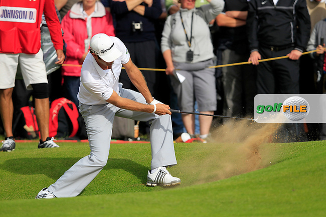 Dustin Johnson (USA) plays from a bunker at the 13th green during Friday's Round 2 of the 141st Open Championship at Royal Lytham & St.Annes, England 20th July 2012 (Photo Eoin Clarke/www.golffile.ie)