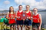 The Valentia 14 girls took Gold at the Valentia Regatta on Sunday pictured here l-r: Dervla Healy, Leanne O'Connor, Fiona Murphy, Saoirse King and coxed by Dermot Walsh.  Cromane finised in 2nd followed in by Sive in 3rd place.