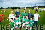 Milltown GAA club have to seek new grounds because club has grown so much. Pictured front Adam Conway, Daniel Downs, Donnacha Quirke, Kieran Murphy, Rian O'Connor Scott Spring Back Padraig 'Podge' Leane, Chairman, Harley Clifford, U8 Trainer, Emmett Spring, Development Officer, John Hegarty, health and wellbeing officer, Jeremiah Hayes (Senior Team Captain)