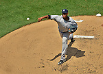 17 June 2012: New York Yankees starting pitcher Ivan Nova on the mound against the Washington Nationals at Nationals Park in Washington, DC. The Yankees defeated the Nationals 4-1 to sweep their 3-game series. Mandatory Credit: Ed Wolfstein Photo