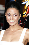 """Actress Emmanuelle Chriqui arrives to the """"Iron Man"""" premiere at Grauman's Chinese Theatre on April 30, 2008 in Hollywood, California."""