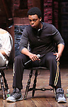 "J. Quinton Johnson from the 'Hamilton' cast during a Q & A before The Rockefeller Foundation and The Gilder Lehrman Institute of American History sponsored High School student #EduHam matinee performance of ""Hamilton"" at the Richard Rodgers Theatre on May 24, 2017 in New York City."