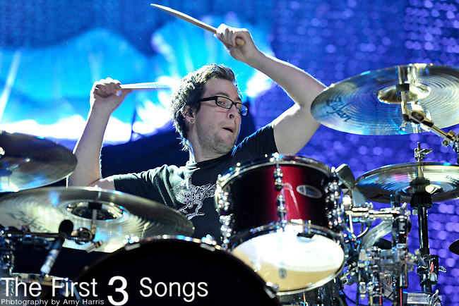 Sam Loeffler of Chevelle performs at PNC Pavilion at Riverbend Music Center in Cincinnati, Ohio on October 7, 2011.
