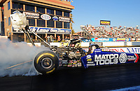 Feb. 17 2012; Chandler, AZ, USA; NHRA top fuel dragster driver Antron Brown during qualifying for the Arizona Nationals at Firebird International Raceway. Mandatory Credit: Mark J. Rebilas-