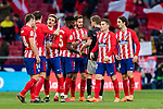 Players of Atletico de Madrid celebrate after the La Liga 2017-18 match between Atletico de Madrid and Athletic de Bilbao at Wanda Metropolitano  on February 18 2018 in Madrid, Spain. Photo by Diego Souto / Power Sport Images