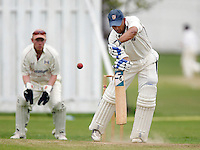 K Makwana bats for Hornsey during the Middlesex County Cricket League Division Three game between Highgate and Hornsey at Park Road, Crouch End, London on Sat June 5, 2010