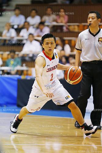 Yuki Togashi (JPN), AUGUST 15, 2015 - Basketball : International friendly match between Japan 65-54 Czech Republic at 2nd Yoyogi Gymnasium in Tokyo, Japan. (Photo by Yusuke Nakanishi/AFLO SPORT)