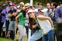 Avid golf fans lean inside the ropes to watch Martin Kaymer's  (DEU) tee shot on 7 during round 3 of the World Golf Championships, Mexico, Club De Golf Chapultepec, Mexico City, Mexico. 3/4/2017.<br /> Picture: Golffile | Ken Murray<br /> <br /> <br /> All photo usage must carry mandatory copyright credit (&copy; Golffile | Ken Murray)