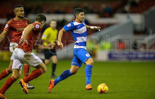 26.01.2016. City Ground, Nottingham, England. Skybet Championship. Nottingham Forest versus Queens Park Rangers. Massimo Luongo of Queens Park Rangers moves out of defender range with the ball.