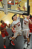 Joseph Rende #10 of Babylon puts up a shot from beneath the hoop during a Suffolk County League VII varsity boys basketball game against Center Moriches at Babylon High School on Friday, Jan. 26, 2018. Center Moriches won by a score of 84-80.