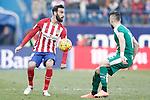 Atletico de Madrid's Jesus Gamez (r) and Sociedad Deportiva Eibar's David Junca during La Liga match. February 6,2016. (ALTERPHOTOS/Acero)
