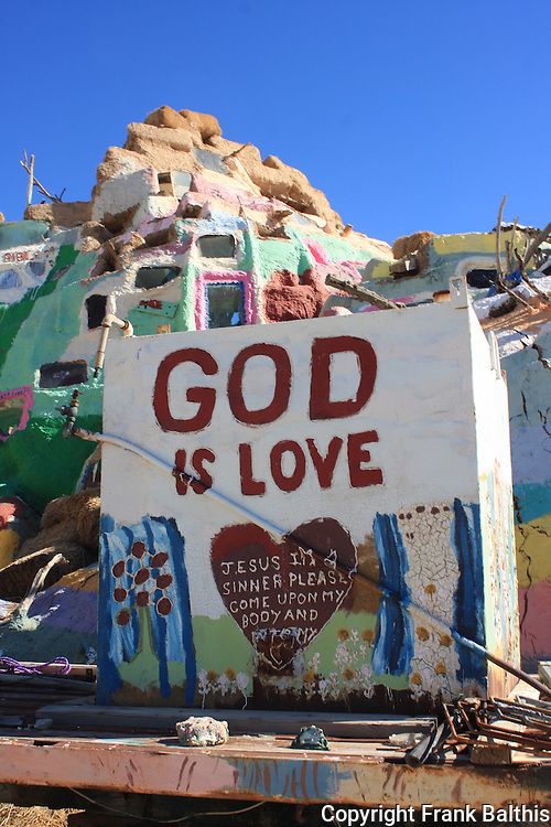 Salvation Mountain in Niland
