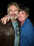 Harvey Fierstein and Gary Beach attending the Opening Night Gypsy Robe Ceremony for LA CAGE aux FOLLES at the Marquis Theatre in New York City.<br />December 9, 2004