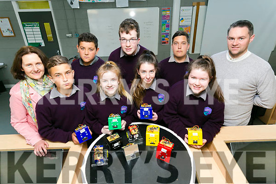 Coláiste Gleann Lí is the only Kerry school to have entered the annual EA Robot Games. Pictured front l-r Mariusz Miroczek, Melanie Smith, Aisling Quirke, Rachel Dunne, Back l-r Norma Thompson, SEP co-ordinator, Adrian Zielinski, Luke Stack, Caspar Mrosczek and Mike O'Sullivan, Teacher
