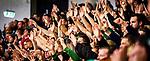 Haende Fanblock Steelers beim Spiel in der DEL2, Bietigheim Steelers (dunkel) -  Heilbronner Falken (hell).<br /> <br /> Foto © PIX-Sportfotos *** Foto ist honorarpflichtig! *** Auf Anfrage in hoeherer Qualitaet/Aufloesung. Belegexemplar erbeten. Veroeffentlichung ausschliesslich fuer journalistisch-publizistische Zwecke. For editorial use only.