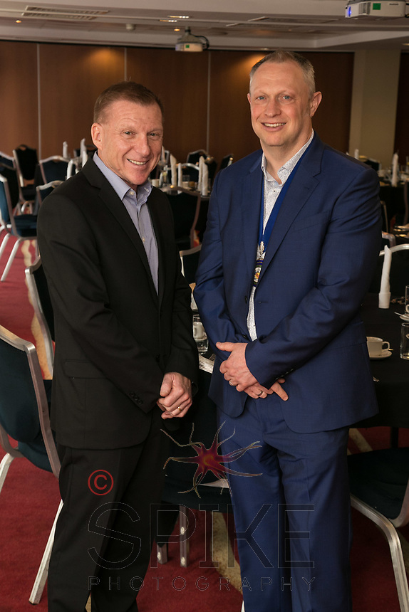 Guest speaker John Van de Laarschot withClub President Mark Deakin