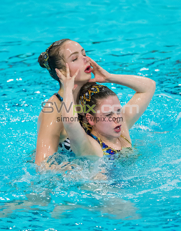 Picture by Allan McKenzie/SWpix.com - 25/11/2017 - Swimming - Swim England Synchronised Swimming National Age Group Championships 2017 - GL1 Leisure Centre, Gloucester, England - Alexander Weir & Christina Maciejewski.