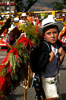 "A boy attends the traditional ""Silletero"" parade during the Flower Festival in Medellin August 7, 2012. Photo by Eduardo Munoz Alvarez / VIEW."