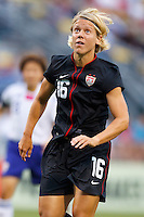 14 MAY 2011: USA Women's National Team midfielder Lori Lindsey (16) during the International Friendly soccer match between Japan WNT vs USA WNT at Crew Stadium in Columbus, Ohio.