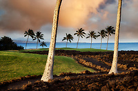 Sunrise at  the Hilton Waikoloa Beach Golf Resort. Hawaii, The Big Island
