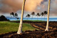 Sunrise at  the Hilton Waikoloa Beach Golf Resort. Hawaii, The Big Island