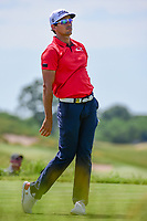 Rafael Cabrera Bello (ESP) watches his tee shot on 13 during Friday's round 2 of the 117th U.S. Open, at Erin Hills, Erin, Wisconsin. 6/16/2017.<br /> Picture: Golffile   Ken Murray<br /> <br /> <br /> All photo usage must carry mandatory copyright credit (&copy; Golffile   Ken Murray)